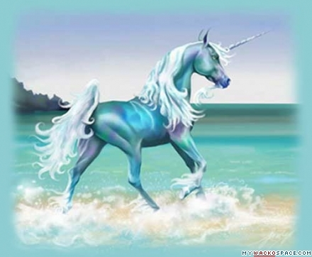 Blue and Green Unicorn
