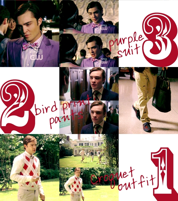 Chuck Bass top 5 season 2 outfits