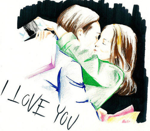 "Gossip Girl wallpaper titled Chuck & Blair ""I Amore you"""