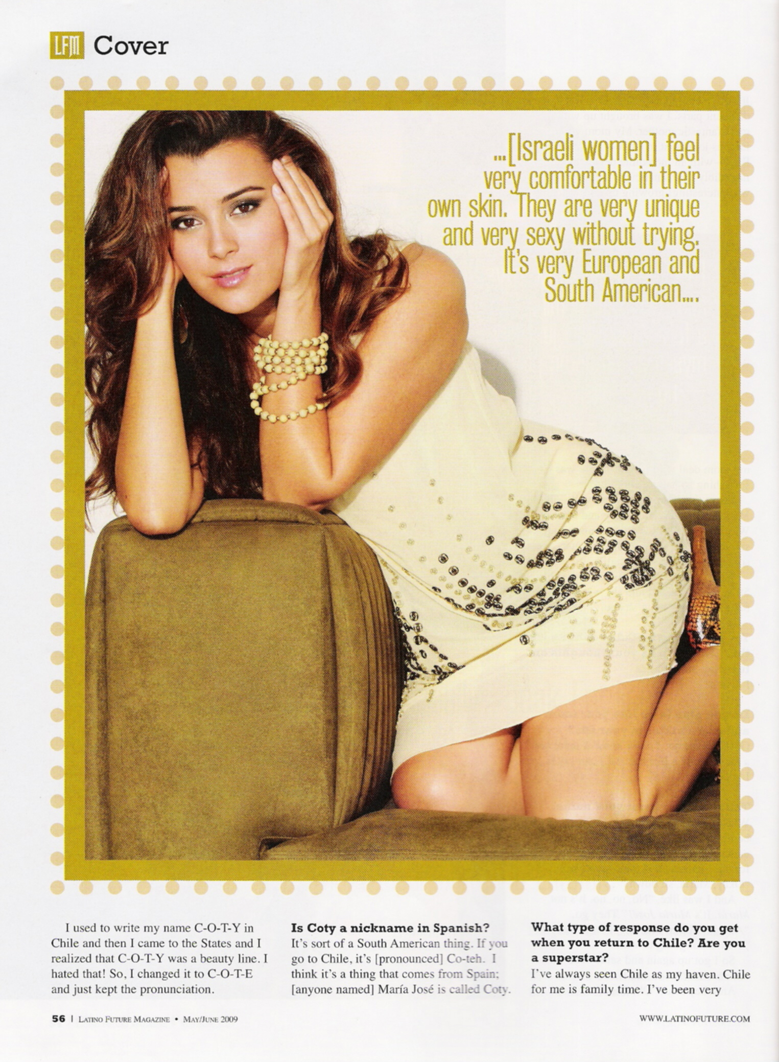 NCIS Cote de Pablo in 'Latino Future' Magazine
