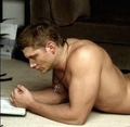 Dean Winchester on floor topless