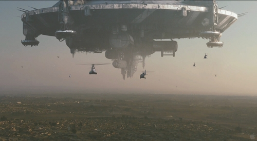 District 9 fondo de pantalla Alien Motherships pistolas Helicopters