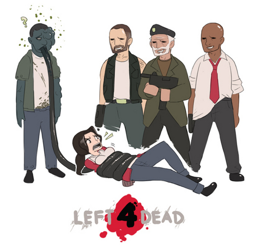 Left 4 Dead fondo de pantalla probably containing an outerwear called Do not want to know what there thinking!