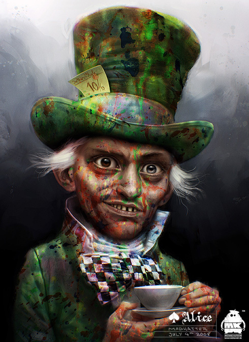 Early Mad Hatter Concept Art