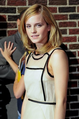 "Emma Watson appears at the ""Late প্রদর্শনী with David Letterman"", New York City"