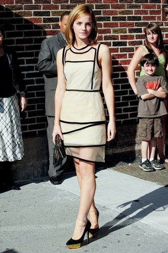 "Emma Watson appears at the ""Late hiển thị with David Letterman"", New York City"