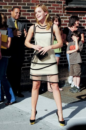 "Emma Watson appears at the ""Late Show with David Letterman"", New York City"