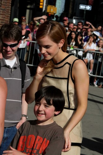 """Emma Watson appears at the """"Late montrer with David Letterman"""", New York City"""