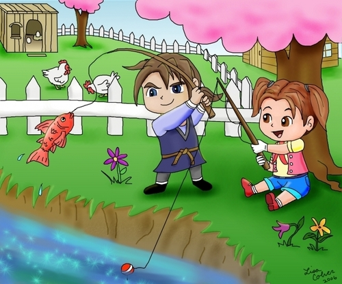 Fishing in Harvest Moon Magical Melody