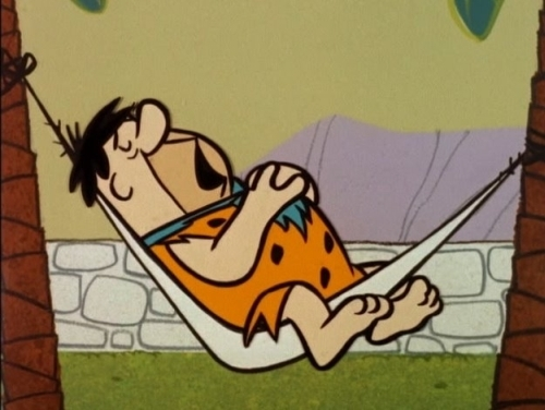 Fred Flintstone Taking a Nap