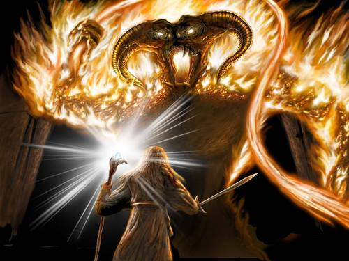 Gandalf vs El Balrog