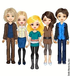 Garret,Kate,Tanya,Carmen and Eleazar.