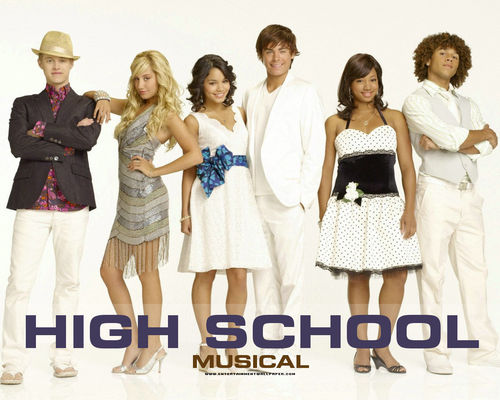 High School Musical wallpaper possibly containing a cocktail dress entitled HSM