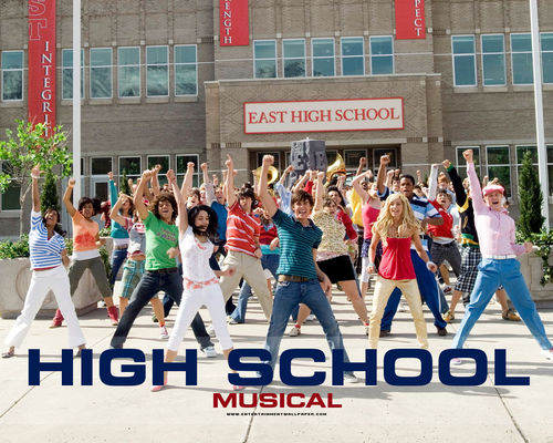 High School Musical پیپر وال titled HSM