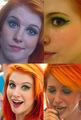 Hayley Williams with Green Eyeshadow
