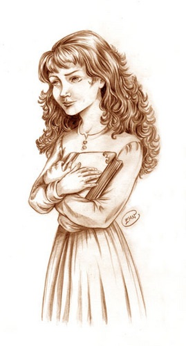 Hermine Granger Hintergrund containing a bouquet entitled Hermione drawing