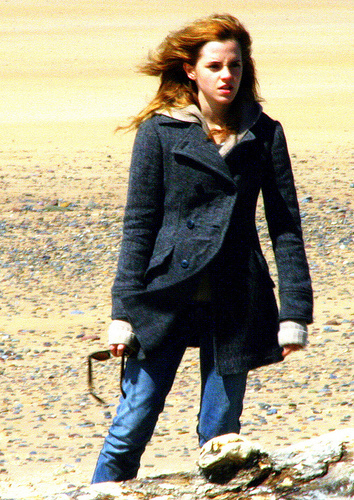 Hermione Granger wallpaper containing a hip boot, a well dressed person, and a business suit titled Hermione in Deathly Hallows