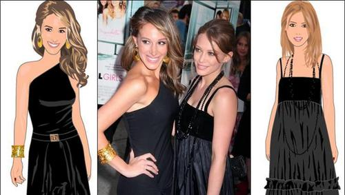 Hilary & Haylie duff on stardoll