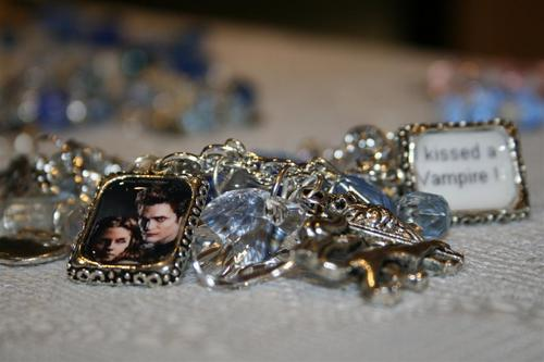 I kissed a vampire twilight charm bracelet