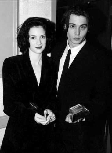 JOHNNY DEPP & WINONA RYDER wallpaper with a business suit, a suit, and a well dressed person titled Johnny&winona
