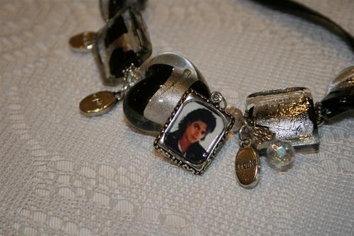 Michael Jackson affirmation charm bracelet