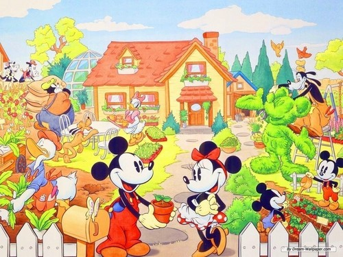 Mickey topo, mouse and Minnie wallpaper