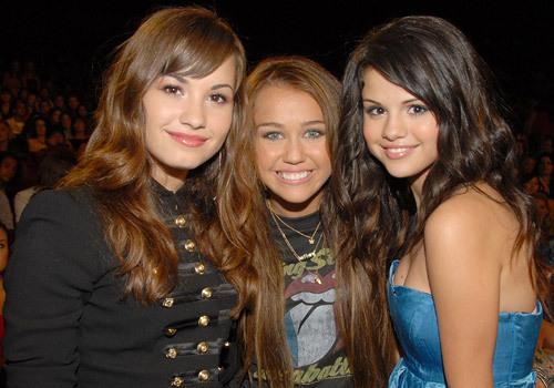 Miley, Selena, and Demi