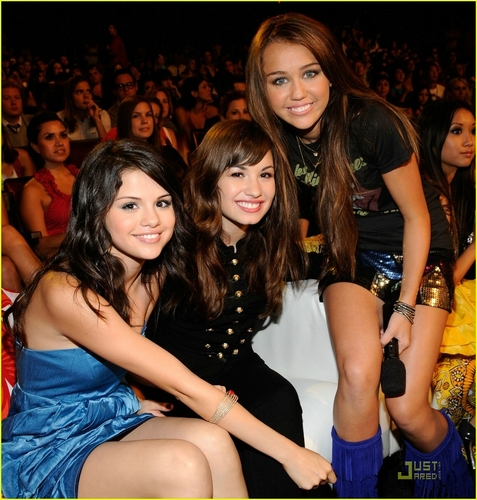 Miley, Selena, and Demi