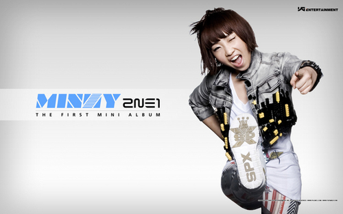 2NE1 hình nền possibly with long trousers called Minzy