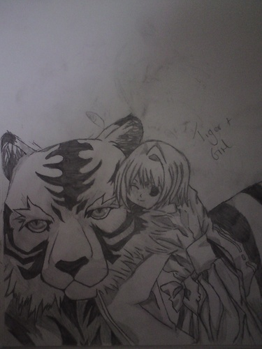 anime animal achtergrond possibly with anime called My Drawing