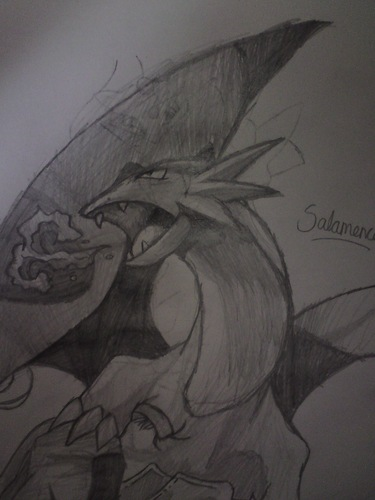 My drawing of Salamence