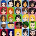 My remake of the TDI Anime Heads - total-drama-island fan art