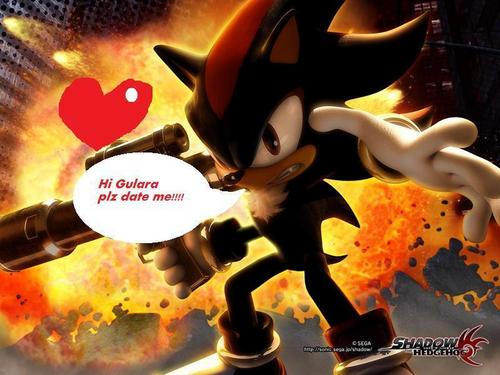 Shadow The Hedgehog wallpaper probably containing a triceratops called OMG!!!!! look what shadow sended me!!