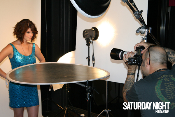 On Set: Ashley Greene cover