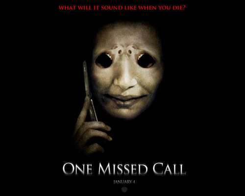 Horror films achtergrond titled One Missed Call
