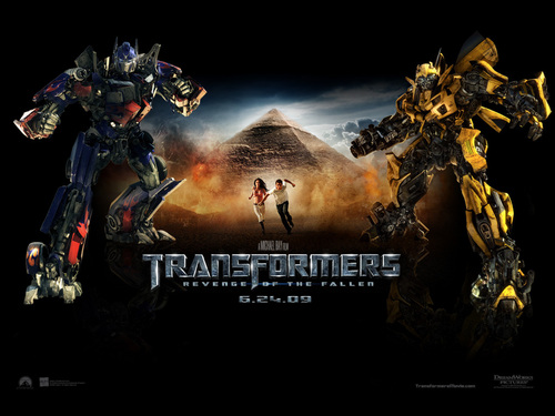 Optimus Prime wallpaper containing a fuoco called Optimus Prime & Bumblebee