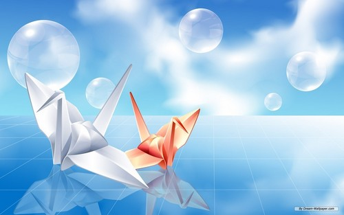 Origami images Origami Crane Wallpaper HD wallpaper and background photos