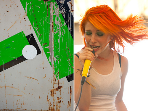 Brand New Eyes karatasi la kupamba ukuta entitled Paramore (Warped Tour 2009!)