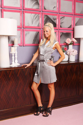 Paris Hilton's My New BFF wallpaper containing bare legs, hosiery, and a hip boot called Paris BFF Season 2 Cast Photo - Rachel