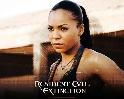 Horror Movies wallpaper probably with a portrait called Resident Evil: Extinction