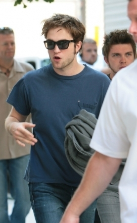 Robert Pattinson on the set of Remember Me - July 6th.