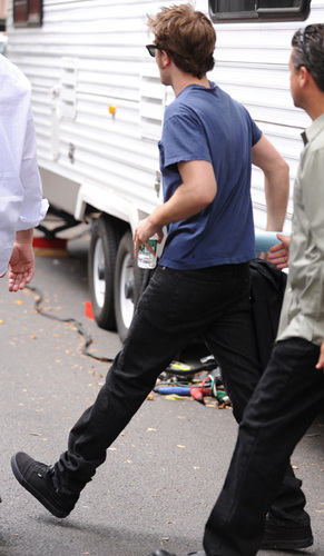 """Robert on the set of """"Remember Me"""""""