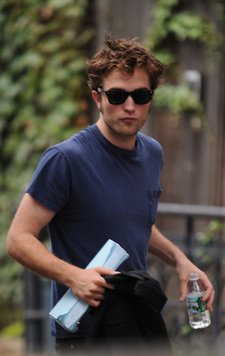 "Robert on the set of ""Remember Me"""