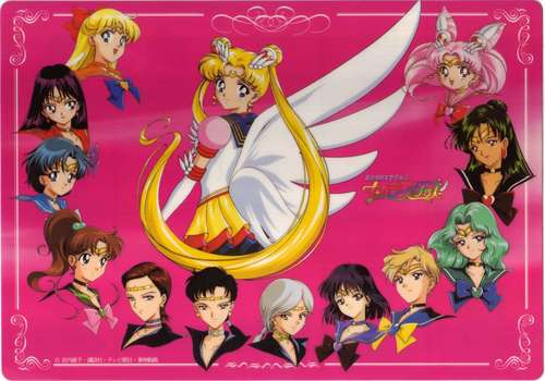 Sailor Moon Sailor Stars karatasi la kupamba ukuta with anime titled Sailor moon Sailor stars group