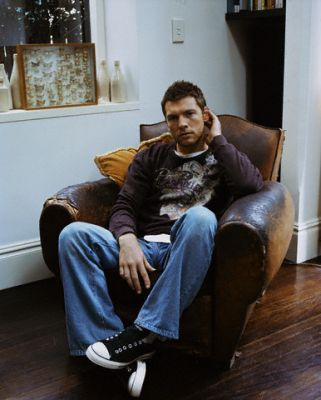Sam Worthington wallpaper containing a family room, a living room, and a drawing room titled Sam