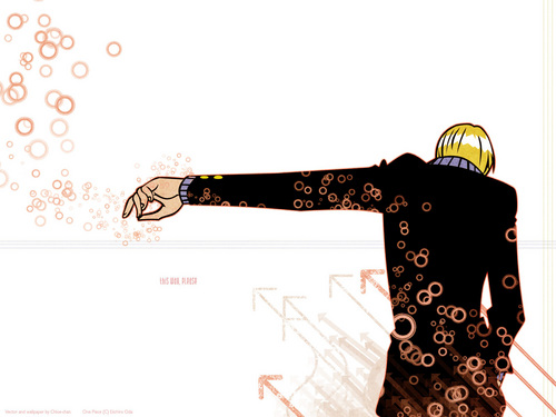 One Piece wallpaper containing a sewing machine called Sanji