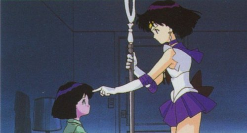 Sailor Moon Sailor Stars wolpeyper entitled Saturn reviveing hotaru's memories
