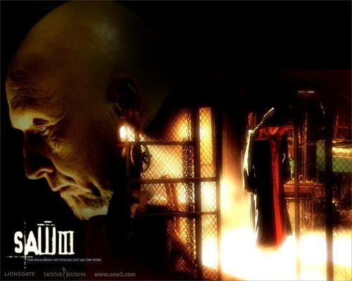 Horror Movies wallpaper containing a fire and a fire entitled Saw 3