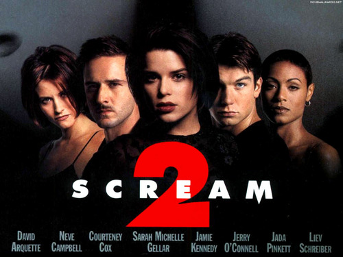 Filem Seram kertas dinding probably containing a portrait titled Scream 2
