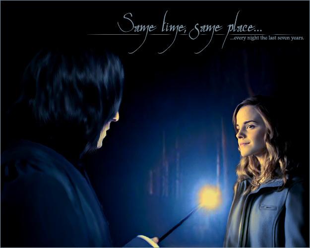 Severus & Hermione - hermione-and-severus fan art